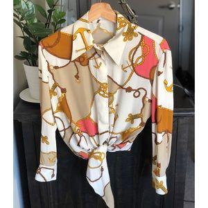 MANGO Chain Print Shirt